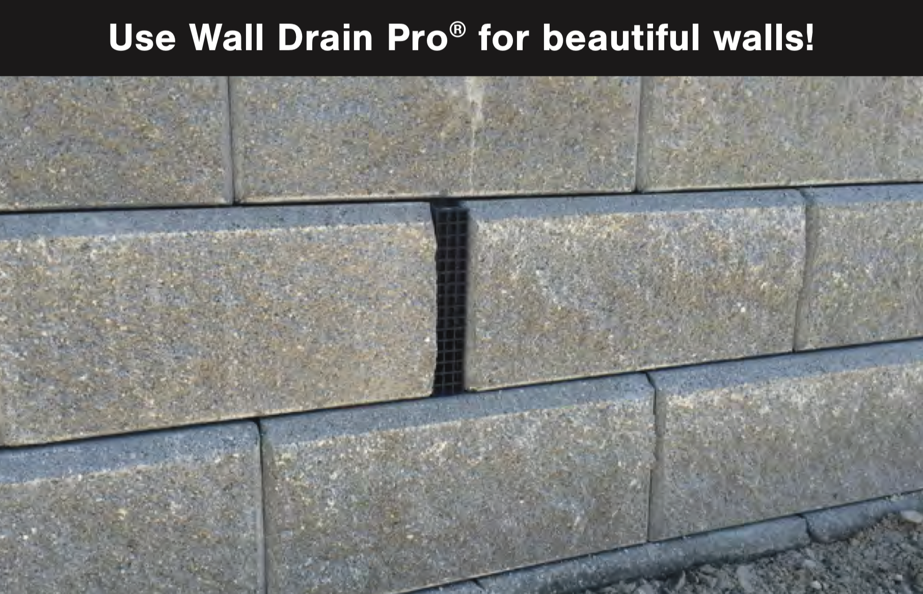Wall Drain Pro - In Use